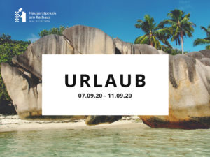 Urlaub September 2020
